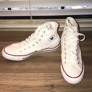 BRAND NEW white high top converse